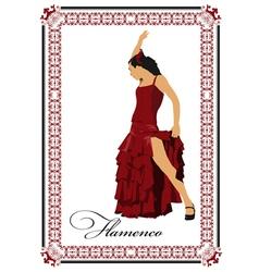 al 0304 flamenco poster 03 vector image