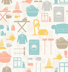 Housekeeping seamless pattern vector