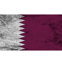 Flag of qatar with old texture vector