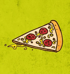 Pizza slice cartoon vector