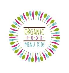organic food menu design vector image