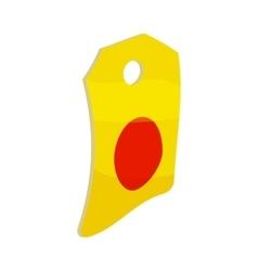 Label paper icon cartoon style vector
