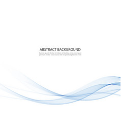 Abstract background blue waved lines vector