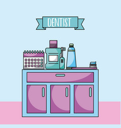 accessories dentist job vector image