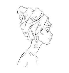 African woman portraits vector