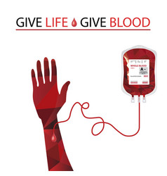 Blood donation and blood transfusion concept vector