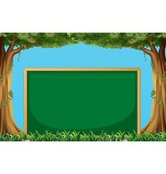 Board and trees vector image vector image
