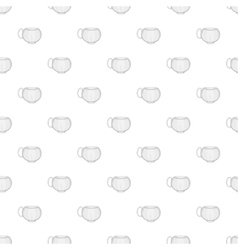 Cup pattern cartoon style vector