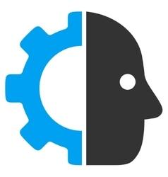 Cyborg flat icon vector