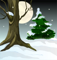 Frosty forest vector