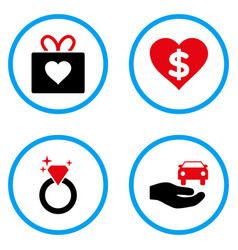Gift rounded icons vector