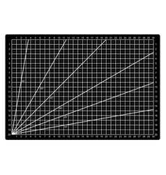 Grid lines cutting mat craft scale plate card fabr vector