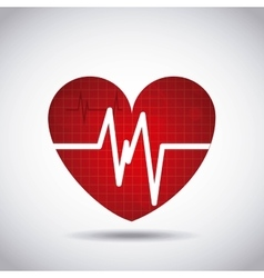 Heart cardio pulse icon vector