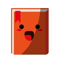Kawaii book icon image vector