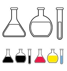 Laboratory glassware symbol vector