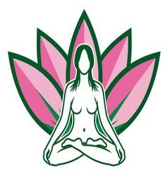Lotus flower yoga resize vector