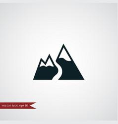 Mountain snow icon simple vector