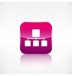 Network icon Application button vector image vector image