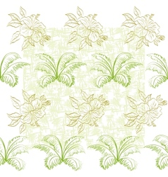Seamless pattern flowers and plant vector
