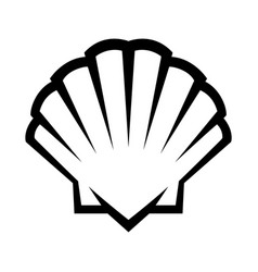 Seashell icon vector