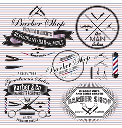 Set of icons on a theme hair salon vector