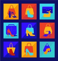 Set of woman fashion women bag vector