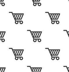 shopping cart seamless pattern vector image