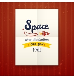 Space retro poster vector