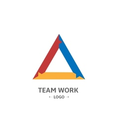 Team Work logo vector image vector image