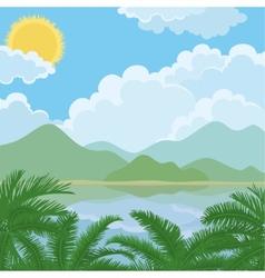 Tropical sea summer landscape vector