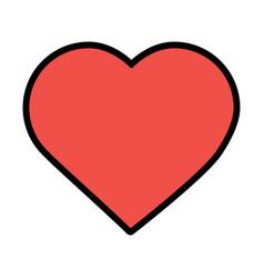 Valentines day love heart romantic passion vector