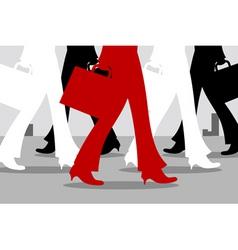 walking feet vector image vector image