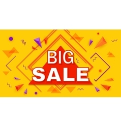 Big super sale horizontal banner vector