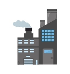 Manufacture building pollution pipes vector