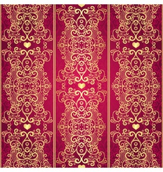 valentine lacy vintage pattern vector image