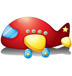 A red airplane toy vector