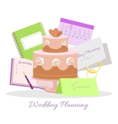 Wedding planning concept in flat design vector