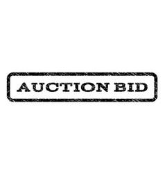 Auction bid watermark stamp vector