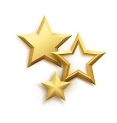 Realistic metallic golden star background vector