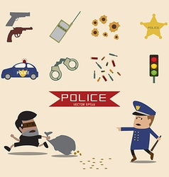 Set of police element vector
