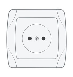 Electric household socket vector image