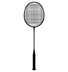 Badminton racquet vector image