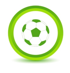 Green ball icon vector