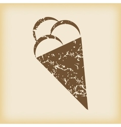 Grungy ice cream icon vector image