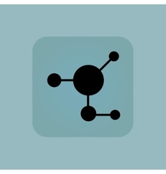 Pale blue molecule icon vector