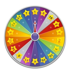Casino wheel of fortune vector