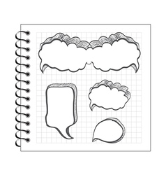 Scribble speech bubble set vector