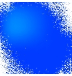 Snowflakes background texture blue vector