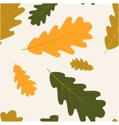 Seamless with autumn oak leaves vector