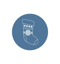 Linear icon christmas sock vector